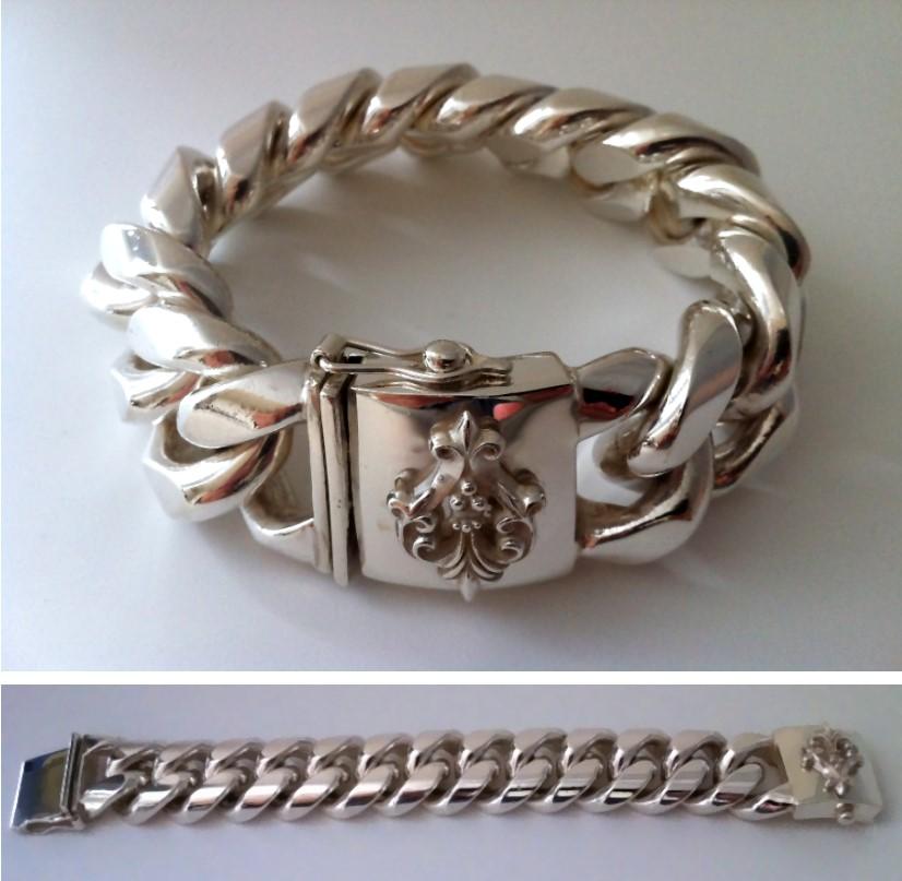 Herren armband silber 925 massiv